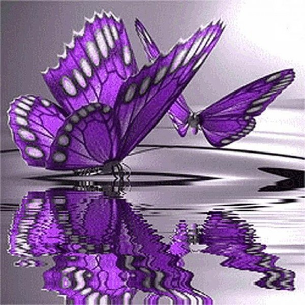 Butterfly on the Water Diamond Painting